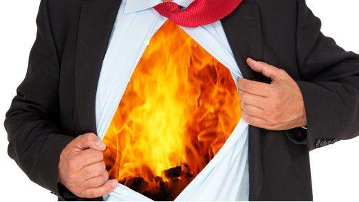 Es brennt von innen: Viele Fälle von Burnout sind übertriebenem Perfektionismus des Einzelnen geschuldet.