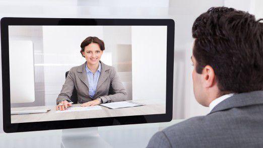 Videointerviews werden vor allem für Trainee- und Einsteigerjobs geführt.