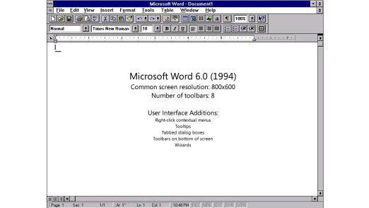 Erzrivale WordPerfect brachte 1993 die Version 6.0 seiner Textverarbeitung auf den Markt.