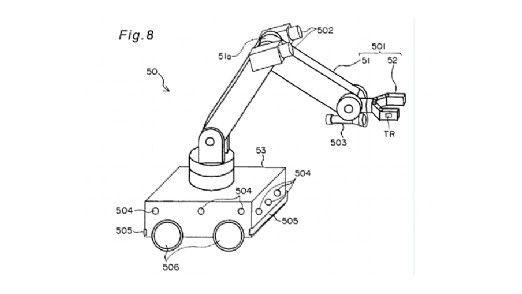 Der Roboter-Arm.