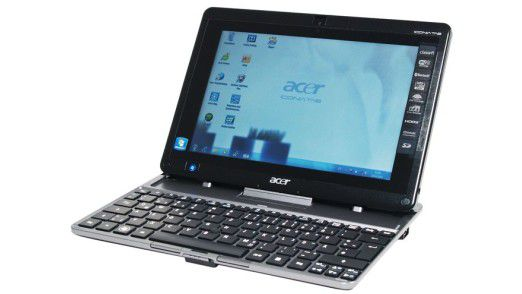 Derzeit die Nummer Drei hinter Apple und Samsung: Acer mit seinen Iconia-Tablets - hier mit Anstecktastatur.