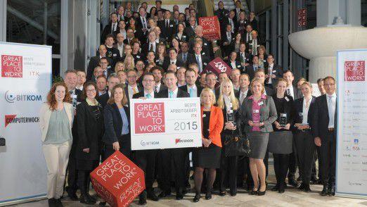 Auf der CeBIT wurden die 60 besten ITK-Arbeitgeber ausgezeichnet.