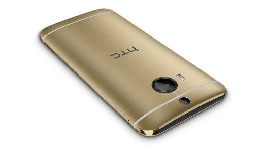 Das HTC One M9+ in gold.