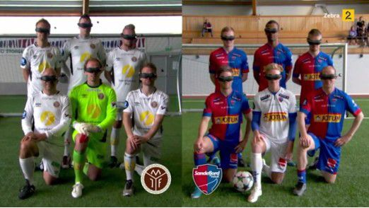 Der Fußball der Zukunft: in Norwegen lässt man Kicker mit VR-Brillen aufeinander los. Das Ergebnis sehen Sie sich am besten in Bewegtbild an - ein Klick auf den Button genügt dazu!