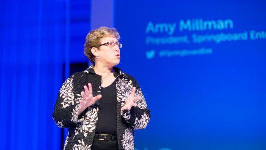Amy Millman, Springboard Enterprises, riet Gründern, professionelle Hilfsangebote in Anspruch zu nehmen und nachzufragen.