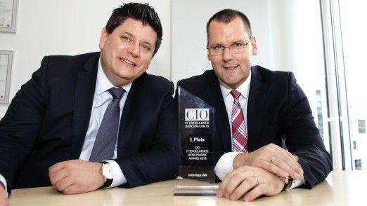 Oliver Winkler (l.), Leiter Windows Services, und CIO Michael Sonne arbeiten schon seit 15 Jahren bei der Interhyp AG. Jetzt gewannen sie den IT Excellence Benchmark.