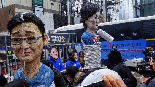 Der Korruptionsskandal hat in den vergangenen Wochen auch in der koreanischen Öffentlichkeit für Unmut gesorgt.