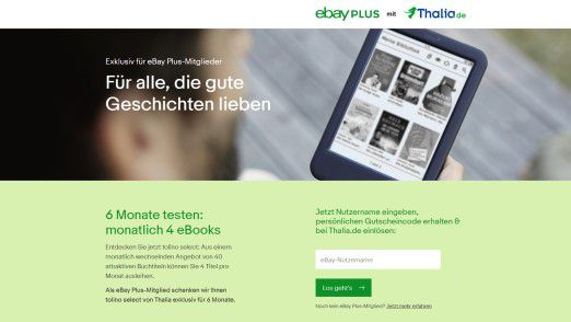 Geplant sei, eBay-Premium-Kunden künftig Zugang zu den E-Books von Thalia zu bieten.