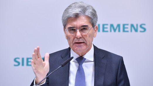 Joe Kaeser, Vorsitzender des Vorstands der Siemens AG, bekommt den Gegenwind der Gewerkschaften zu spüren.
