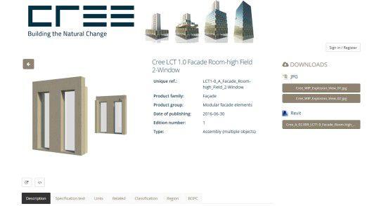 In der Cloud von BIMObject können Architekten Cree-Häuser aus dem Baukasten designen.