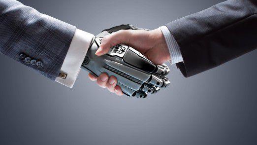 Unvermeidliche Entwicklung: Mensch und Maschine werden künftig noch intensiver zusammenarbeiten als bisher. Der Roboter wird zum Kollegen.