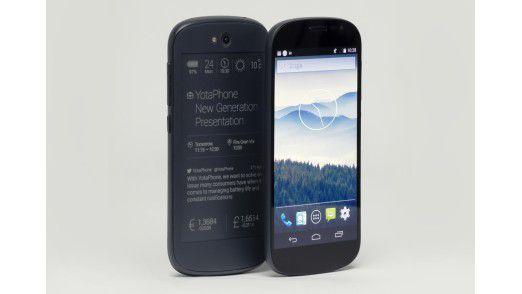 Das E-Paper-Display des Yotaphone ist eine nette Idee, die man aber schnell wieder verwerfen sollte.