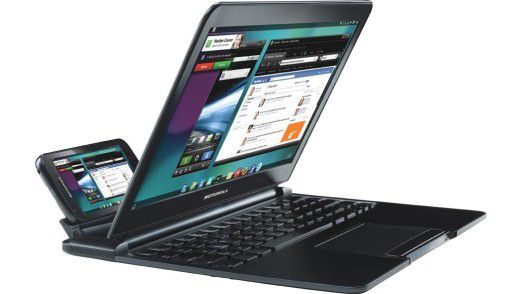Zeit und Technik waren für das WebTop Laptop des Motorola Atrix 2011 noch nicht reif.