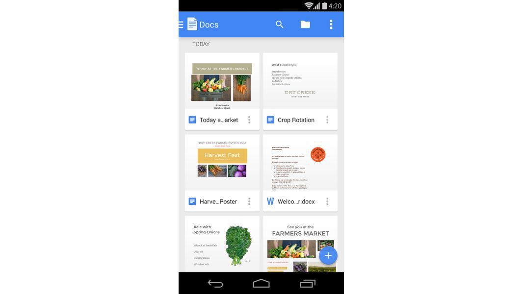 Praktische Android Apps Furs Mobile Buro Google Docs Cio De