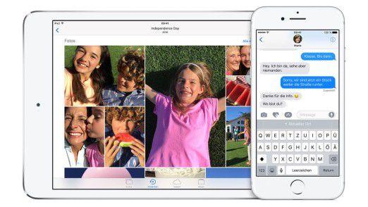 Funktionen wie Split View sind nicht auf jedem iPad verfügbar.