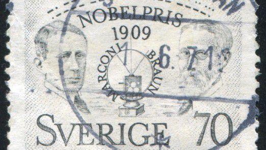 Der Physiker und Nobelpreisträger Karl Ferdinand Braun (rechts) lebte von 1850 bis 1918.