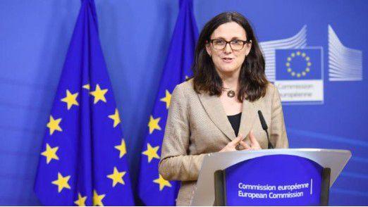 EU-Handelskommissarin Cecilia Malmström äußerte sich enttäuscht zur WTO-Konferenz.