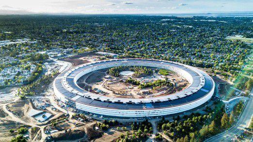 Auch das neue Apple-Hauptquartier in Cupertino wird mit erneuerbarer Energie betrieben.