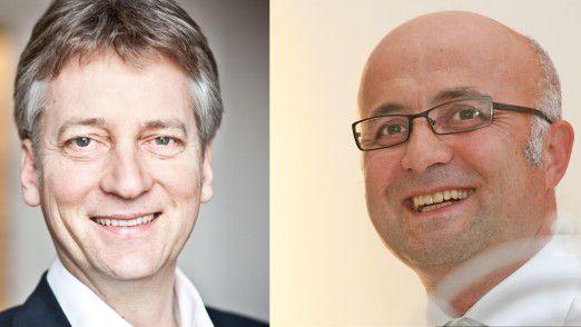 """Thomas Schildhauer (links) und Hüseyin Özdemir werden das Seminar """"Digital Leadership"""" fachlich leiten."""