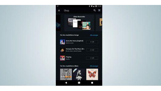 Um Ihre Musikauswahl dauerhaft ohne kostenpflichtiges Premium-Abo zu nutzen, haben Sie die Möglichkeit, diese bei Amazon im Shopbereich zu kaufen.
