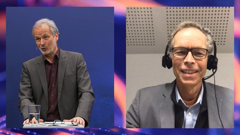 Klimaforscher Johan Rockström (rechts) im Gespräch mit Moderator Horst Ellermann.