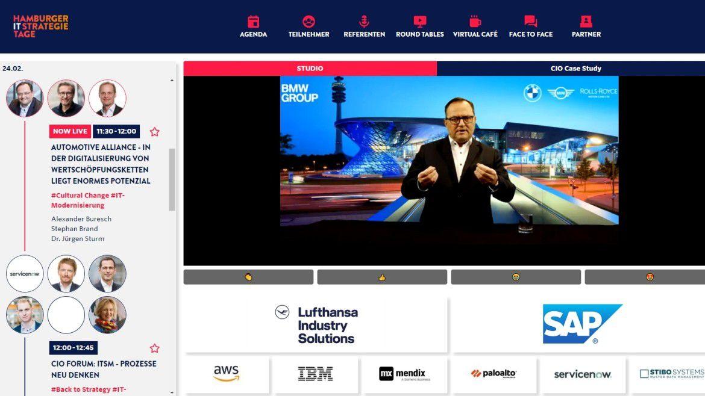 Referent auf den Hamburger IT-Strategietagen 2021: BMW-Group-CIO Alexander Buresch