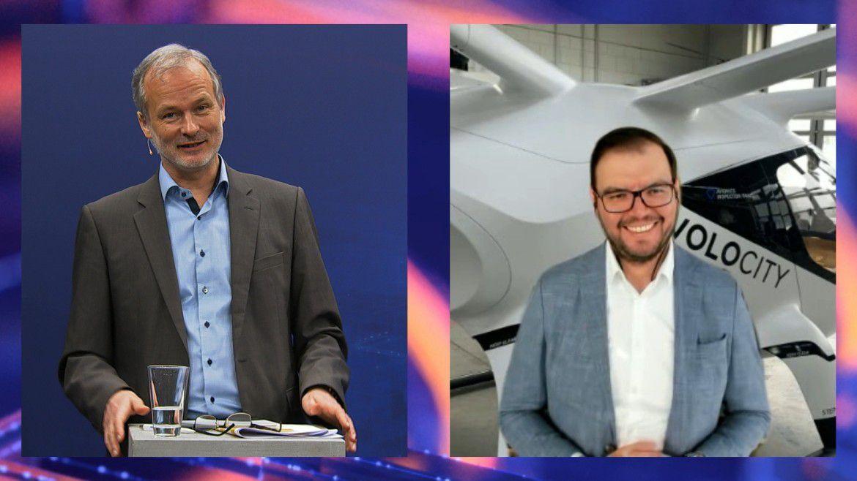 Volocopter-CDO Alexander Oelling (rechts) im Gespräch mit Moderator Horst Ellermann.