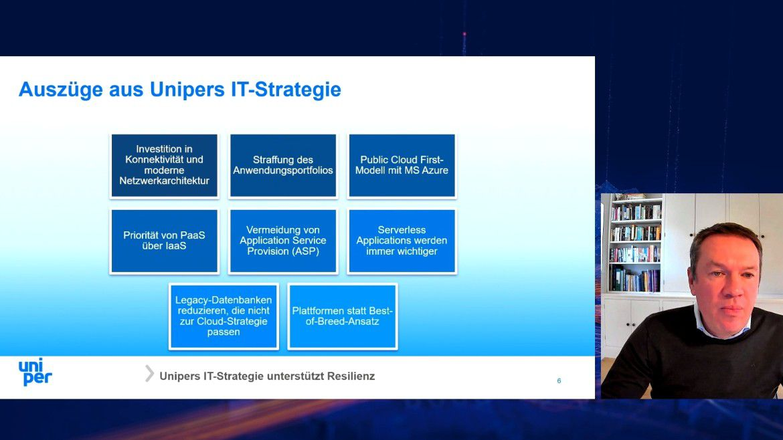 CIO Damian Bunyan stellte Auszüge aus Unipers IT-Strategie vor.
