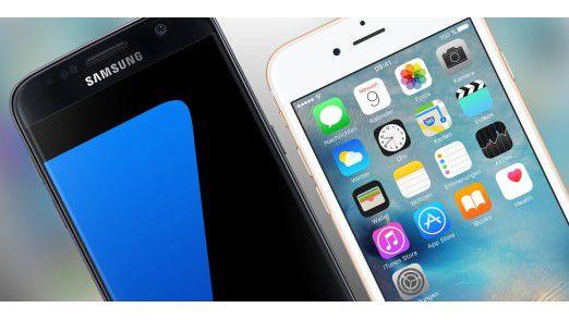 Während Apples iPhone besonders stark strahlt wartet das Galaxy Note 8 mit besonders niedrigen Werten auf.