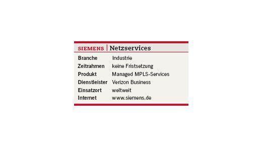 Im Überblick: Netzservices bei Siemens.