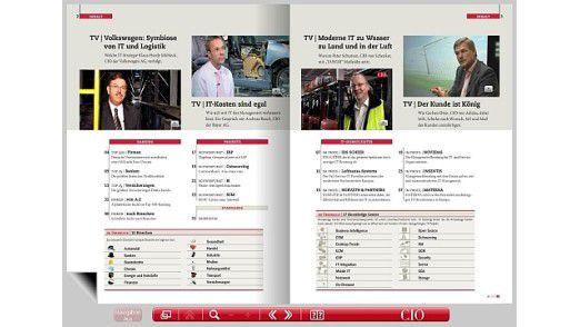 Das Inhaltsverzeichnis erleichtert die Navigation innerhalb des E-Papers.