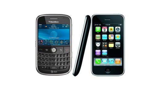 Schwierig: Support für mobile Endgeräte wie Blackberry oder iPhone.