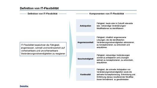 Definition und wesentliche Komponenten von IT-Flexibilität.