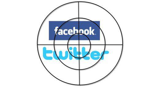 Facebook und twitter: Ständig im Visier.