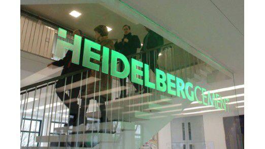 Im Foyer der HeidelbergCement AG.