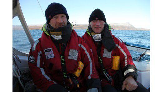 Borge Ousland und Thorleif Thorleifsson durchsegeln mit einem Trimaran die Arktis.