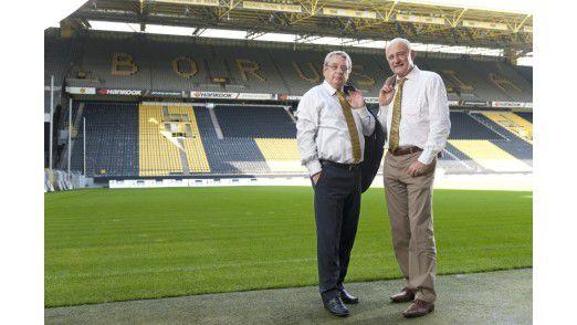 Joachim Badde (rechts), hier mit Olaf Röper im Jahr 2011, überschreitet die durchschnittliche Amtszeit von CIOs um viele Jahre. Jetzt hört er auf. Bereits im vergangenen Jahr war Olaf Röper in den Ruhestand gegangen.