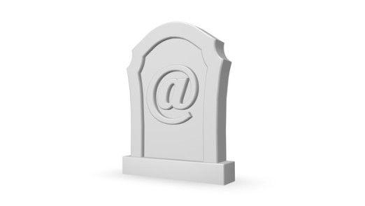 Zwei Drittel der Befragten können sich nicht vorstellen, die E-Mail zu beerdigen.
