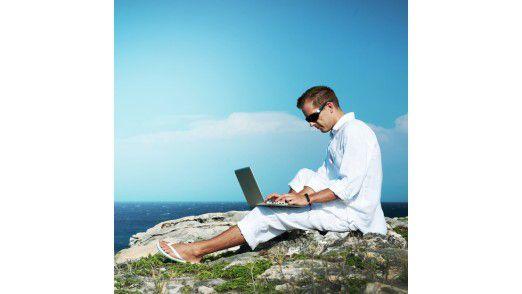 Immer erreichbar: Auch im Urlaub können viele Manager nicht ganz abschalten.
