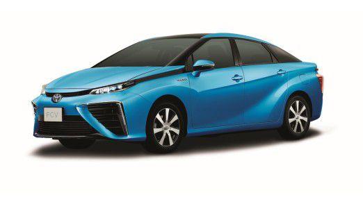 Das neue Brennstoffzellenfahrzeug von Toyota.