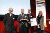 Die Jury mit BWI-Sieger: Ulrich Mohr, Reinhard Lößner (BWI Informationstechnik), Hans-Joachim Diercks, Heike Gnaiger (v.l.).
