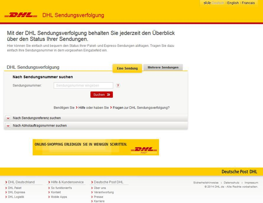 dhl sendungsverfolgung deutsche post r umt fehler auf dhl. Black Bedroom Furniture Sets. Home Design Ideas