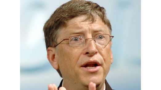 Ein Bild aus einer anderen Zeit: Als Microsoft Windows XP vorstellte, mischte Firmengründer Bill Gates noch kräftig mit.