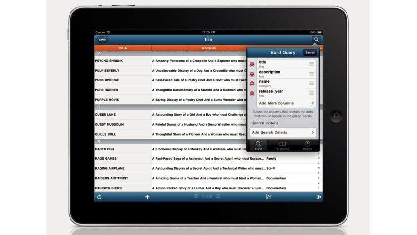 MySQL-Server mobil verwalten mit DataGlass MySQL Mobile Database Client.