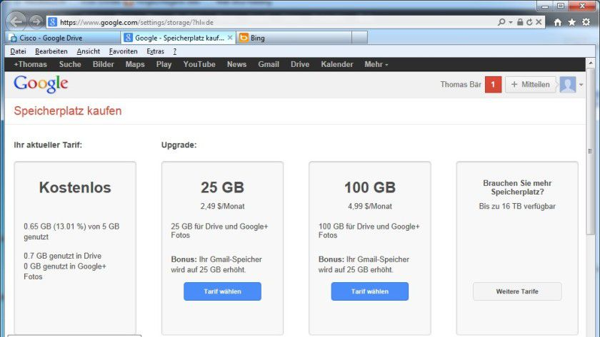 Die Technik: Google Drive funktioniert nach dem Fremium-Modell.