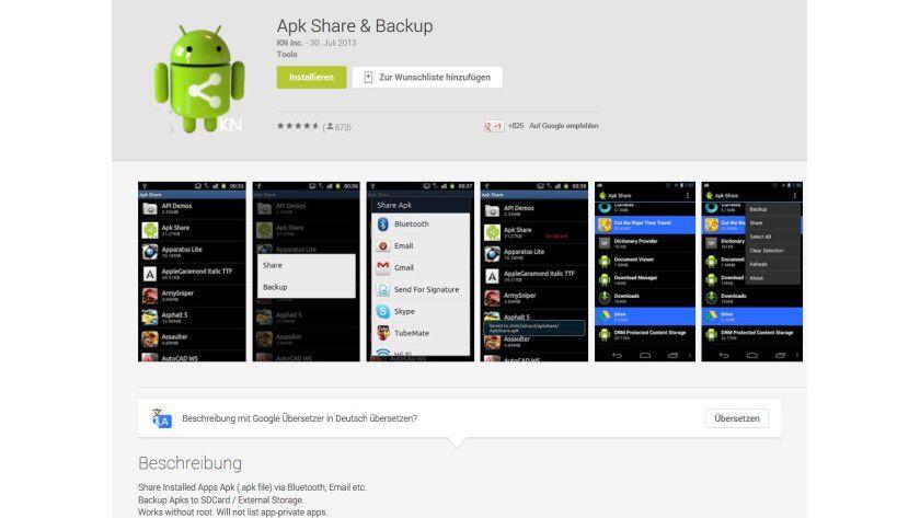 Um Office vom Smartphone auf ein Android-Tablet zu migrieren, benötigt der Anwender ein Tool wie Apk Share.
