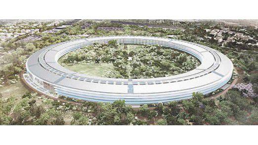 Kein Geheimnis mehr: Die riesigen Fassadenscheiben für das Campus 2 von Apple kommen aus Augsburg.