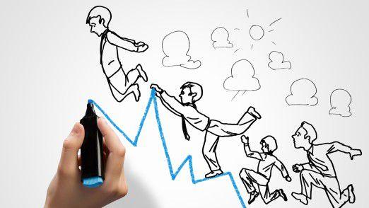 Wer nach dem Aufstieg zum Chef weitgehend mit sich beschäftigt ist und nicht auf seine Mitarbeiter eingeht, kann schnell abstürzen.
