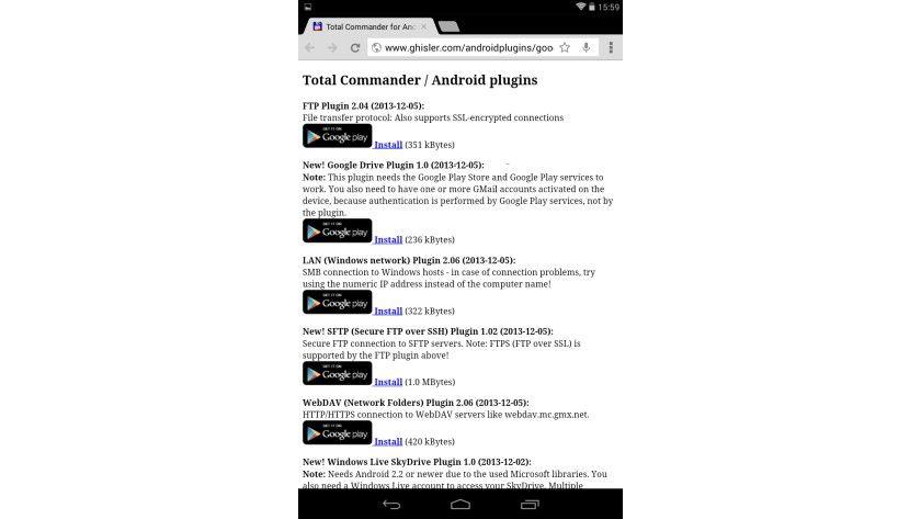 Eingeklinkt: Mittels Plugins kann der Total Commander auch auf die verschiedenen Cloud- und LAN-Freigaben zugreifen.