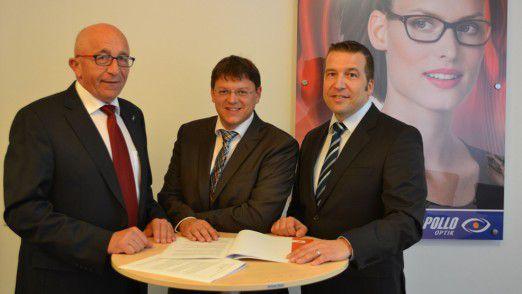 Die Protagonisten des Projekts (von links): IT-Chef Erich Ehbauer, Robert Zellner, Vorstand der COC AG, und der frischgebackene Service-Manager Gerad Ringel.